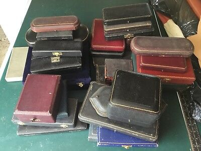 Big Job Lot Of Antique Cutlery Case, Odd Cases