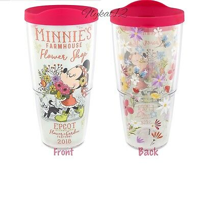 2018 Disney Parks Minnie Farmhouse Shop Epcot Flower & Garden Festival Tumbler