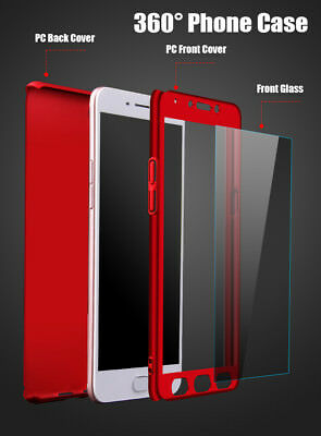 Etui Coque Pour Huawei Y7 2018 Honor 7A 7C 10 Y6 2018 P20 360° Phone Case +Glass