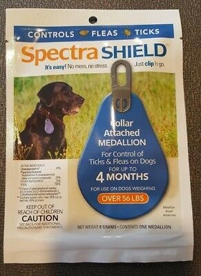 Spectra Shield Large Dog Tag/Collar Flea/Tick Control 4 Month Protection 56+#