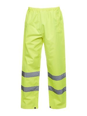 ST High Vis Trousers Medium Yellow Hi Viz Visibility Workwear Waterproof Qty 2