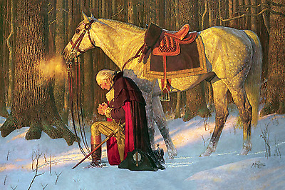 George Washington, Prayer at Valley Forge 16 x 24