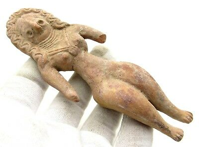 Indus Valley Terracotta Female Idol - Rare Historic Artifact Ancient - L599