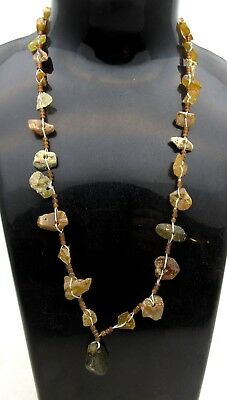 Ancient Roman Glass Beaded Necklace - Rare - Wearable Historic Artifact - E43