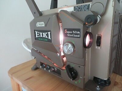 Vintage EIKI Slim Line 16mm Film Projector SSL-0L Super Slim Slotload