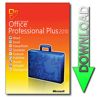 Microsoft Office 2010 Professional Plus Word Outlook Excel Powerpoint - Download