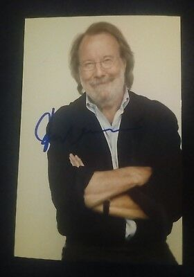 -50% Autogramm Benny Andersson Piano Group ABBA foto pop music signed in person
