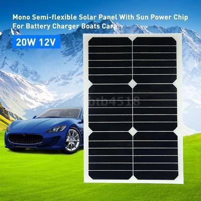 20W 12V Mono Semi-flexible Solarpanel With Sunpower Chip For Battery L7H6