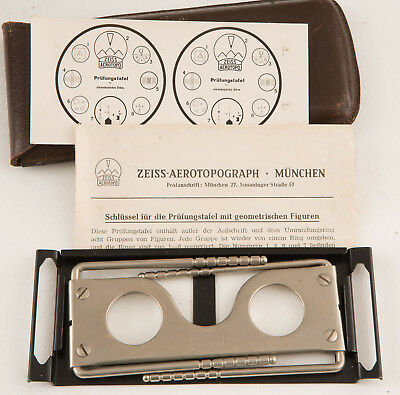 Zeiss Aerotopograph  3D Stereoscope? With Pouch And Instructions +