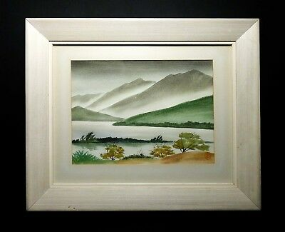 Kenneth K. Higashimachi (Japan/us 1901-1991) Hawaiian Landscape W/c Orig Frame