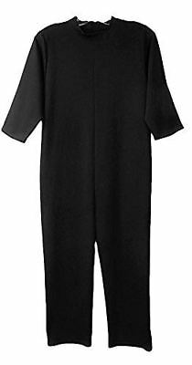 One-Piece Anti-Strip P.J. Jumpsuit For Kids w/ Autism or Special Needs Black-Med