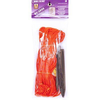 "Outdoor Volleyball Boundary Poly Cord Rope Ground Stakes: 1/4"" Wide Court Line"