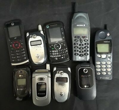 Lot of Broken Cell Phones All Broken and Not Working For Parts or Repair