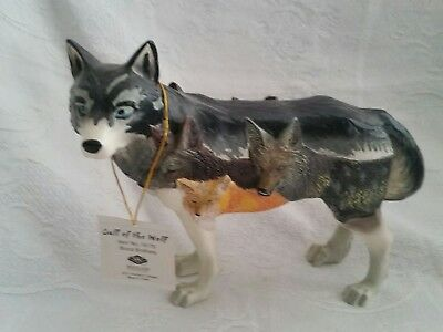 "CALL OF THE WOLF RESIN FIGURINE by WESTLAND GIFTWARE  ""BLOOD BROTHERS"" 2010"