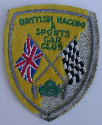 Old Original British Racing & Sports Car Club Cloth Patch Circa 1930's Very Rare