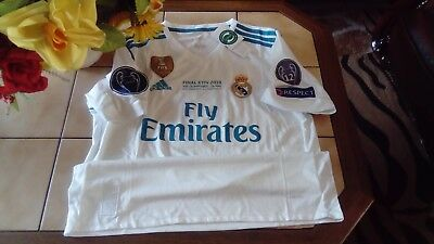 maillot real madrid RONALDO Finale camiseta home shirt jersey taille L
