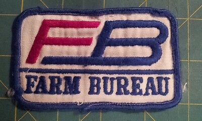 Farmers Bureau Insurance Advertising Patch.  Rolled-Edge, Embroidered On Twill