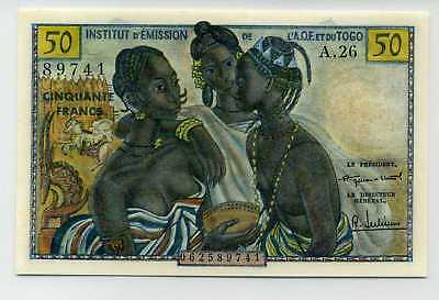 French West Africa 50 Francs (1956) P-45 UNC