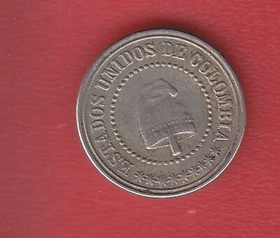 Colombia 2 Half Cents 1881