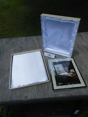 Oleg Cassini Crystal Diamond 8 Inch X 10 Inch Picture Frame 5581