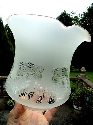A Beautiful Reproduced Victorian Style Tulip Oil Lamp Shade.