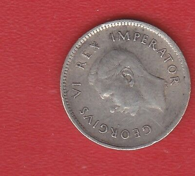 South Africa  Pence 1937 Silver