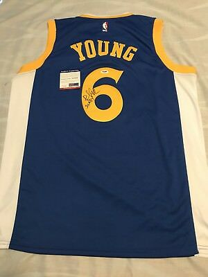 the latest 92f8a f8410 STEPHEN CURRY SIGNED Autographed Jersey Warriors PSA/DNA COA ...
