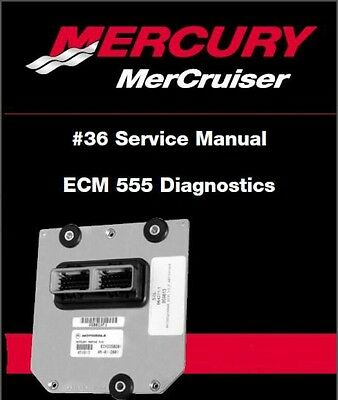 MerCruiser #36 ECM555 Diagnostics Service Manual CD   ---    # 36 ECM 555