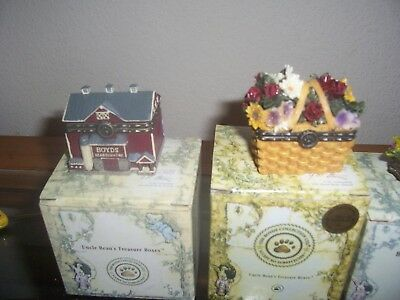 Boyds Bears 8 Uncle Beans Treasure Boxes New In  Box Retired