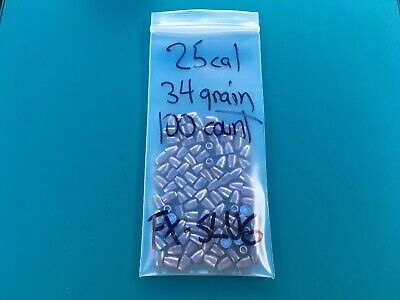 25 CALIBER 34 Grain Hollow Point Pellets For Fx-Slug Barrels 100