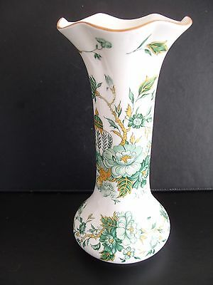 Crown Staffordshire porcelain tall vase-Kowloon pattern-20 cm high