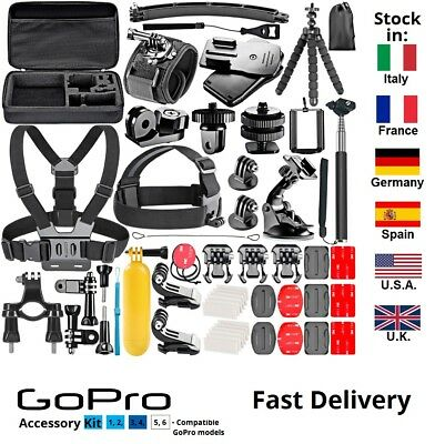 Set 83pcs Sport Action Camera Accessory Kit for GoPro Hero 1 2 3 4 5 6 Session