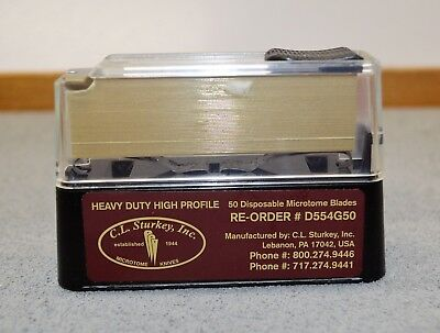 Sturkey Gold High Profile Microtome  Blade D554G50 50 Blade dispenser pack
