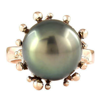 Natural 12.45 mm South Sea Pearl In 18K Rose Gold Ring