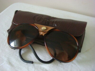 Vintage Orvis Polarized Sunglasses with leather shields France