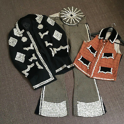 Super Rare Vintage 19th Century Bespoke Pearly King Suit