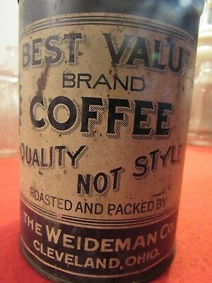Best Value Brand Early Coffee Tin/can. Cleveland Ohio