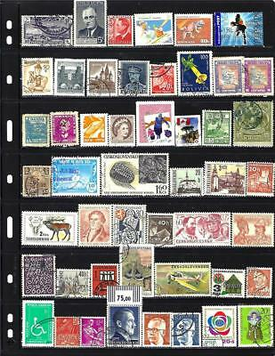 100 All Different World-Wide Stamps From Our Hoard Buy For 5c Each + Free Ship