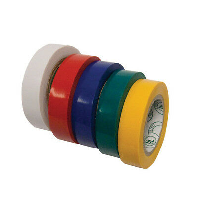 5 Assorted Colors Of Electrical Tape, 7 mil, 1/2 Inch x 20 Feet Per Roll