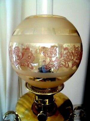A Beautiful Reproduced Victorian Style Etch Globe Oil Lamp Shade.