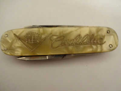 Neat Vintage Cadillac Advertising 4 Blade Pocket Knife Made in Solingen Germany