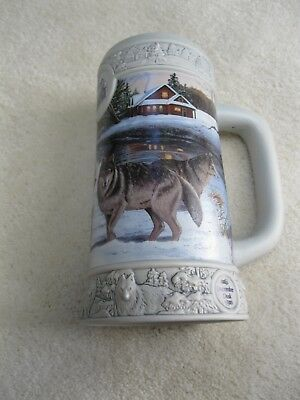 "Miller High Life 1999 Holiday collectible beer stein ""December Dusk"""