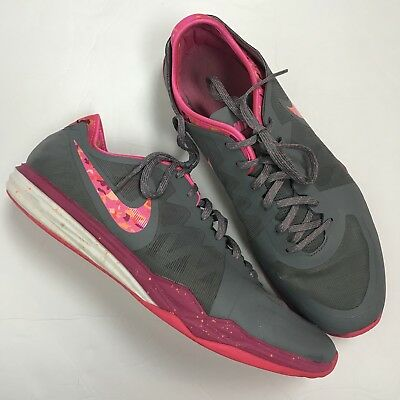 6b98be4aefd13 Womens NIKE Dual Fusion Camo Pink Training Athletic Shoes Gray Size 11