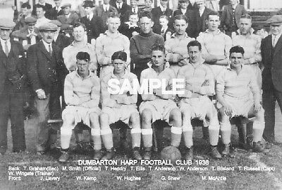 Dumbarton Harp FC 1936 Team Photo