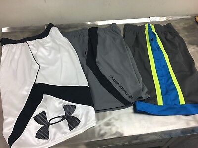 Mens Size Small Lot Of 3 Pair Shorts. Under Armour & Champion