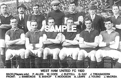 West Ham Utd FC 1920 Team Photo