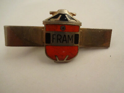 Neat Vintage Fram Oil Filters Advertising Tie Clasp or Clip