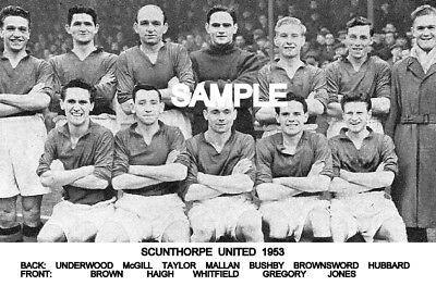 Scunthorpe Utd FC 1953 Team Photo