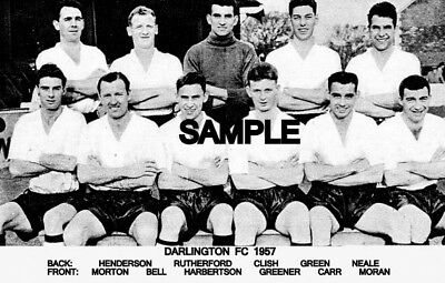 Darlington FC 1957 Team Photo