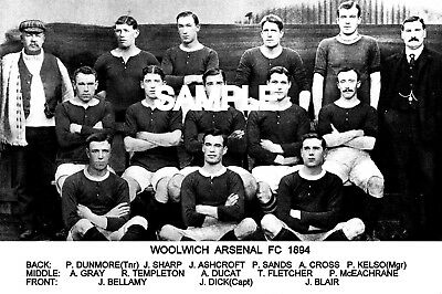 Woolwich Arsenal FC 1894 Team Photo